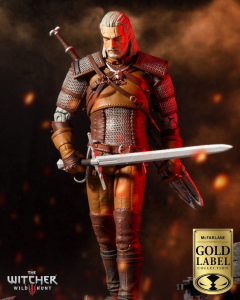 The Witcher Action Figure: GERALT OF RIVIA - GOLD LABEL SERIES by McFarlane Toys