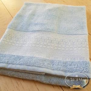 Asciugamani piedipull geometrico azzurro