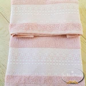 Asciugamani piedipull geometrico rosa