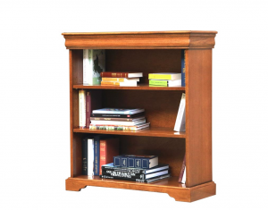 Low bookcase Louis Philippe style with shelves