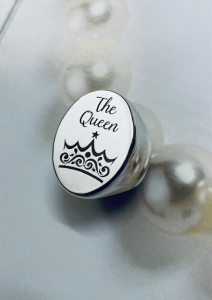 Anello ovale argento the queen