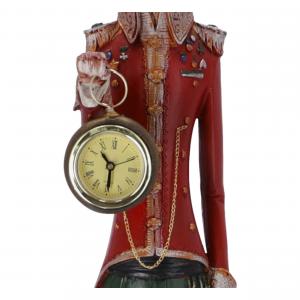 Statua Gatto orologio in resina
