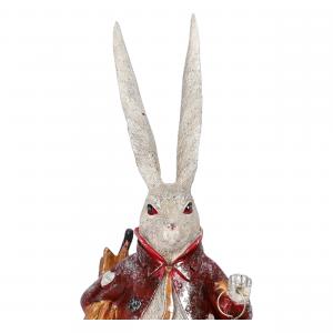 Statua Coniglio Orologio in resina