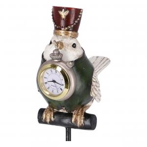 Statua Uccello Orologio in resina