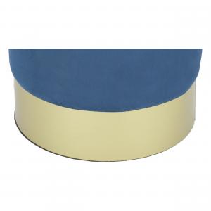 Pouf Contenitore Rotondo Glamour Blu