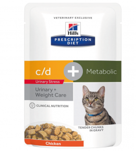 Hill's - Prescription Diet Feline - c/d Urinary Stress + Metabolic - 85g x 12 buste