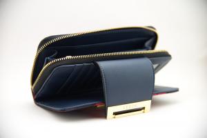 Portefeuille à carreaux rouge et bleu | Vente en ligne Portefeuilles femme