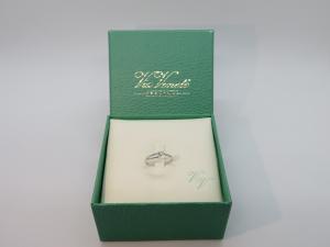 Anello Solitario ViaVeneto oro bianco 18 kt con Diamante