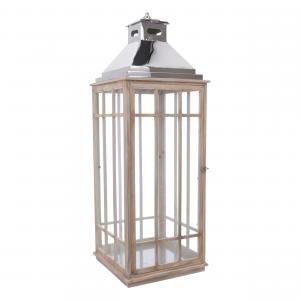 Lanterna Metallo e Legno Set 4pz