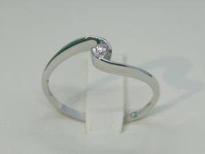 Anello Solitario ViaVeneto Contrarier Oro bianco 18 kt con Diamante