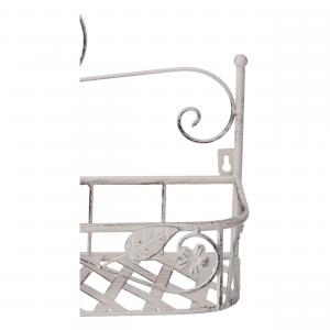 Mensola portavasi da parete in ferro