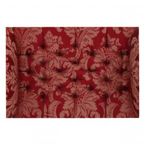 Divanetto Oro Tessuto Damasco Rosso
