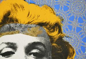 Grittini Giuliano Marilyn 6 Serigrafia Formato cm 50x50
