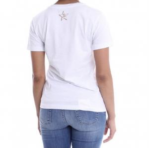 T shirt bianca stampa corno - LIU JO