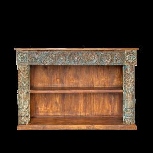 Libreria indiana in legno massello di teak e palissandro