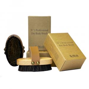 Cepillo Scrub con cerdas de cobre. Masaje anticelulítico. Cepillo para el cuerpo seco
