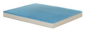 RIKKA - Materasso memory alto 21 cm con 4 cm di memory e rivestimento sfoderabile