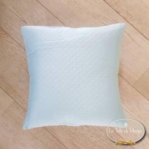 Fodera cuscino trapuntata acquamarina
