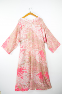 Viscose dress in comfortable size. online oriental clothing