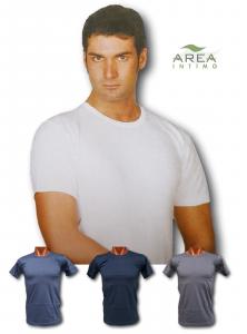 AREA. Maglietta intima - T-shirt, Uomo manica corta, girocollo. 114, 100% Cotone