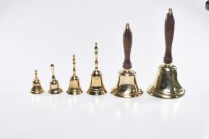 Campanello in ottone manico legno cm. 25
