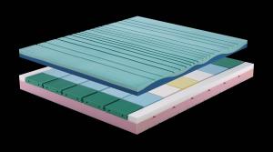 HASU - Materasso memory alto 26 cm con 7 cm di memory e rivestimento sfoderabile