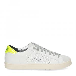 P448 John-M sneaker bianca giallo fluo-2