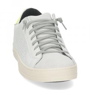 P448 John-M sneaker bianca giallo fluo-3