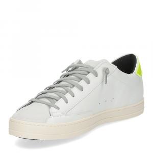 P448 John-M sneaker bianca giallo fluo-4