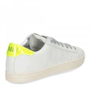 P448 John-M sneaker bianca giallo fluo-5