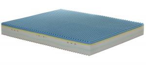 KIKU - Materasso memory alto 25 cm con 5 strati e rivestimento sfoderabile con presidio medico