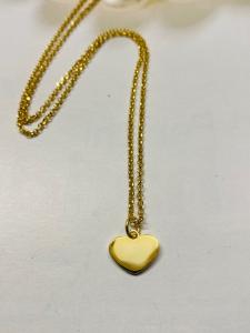 Collana in argento dorata con ciondolo cuore