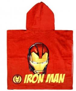 Poncho Iron Man 100% cotone dim. 60x120 cm