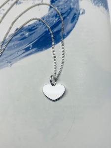 Collana in argento con ciondolo cuore