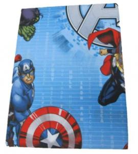 Lenzuola Avengers completo letto 100% Cotone  Marvel Una Piazza Singolo