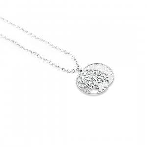 Collana donna BRAND Gioielli. Albero della vita. Glitter argento.