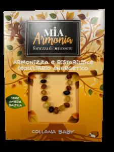 MIA ARMONIA COLLANA AMBRA BABY MULTIC SATINATA