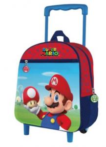 Trolley asilo Super Mario dimensione 28x24x12 cm