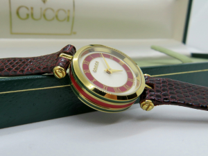 Orologio Gucci 2000 donna lady lady quadrante bicolore bordeaux