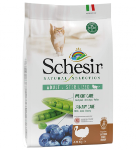 Schesir Cat - Natural Selection - No Grain - Sterilizzato - Tacchino - 4.5kg