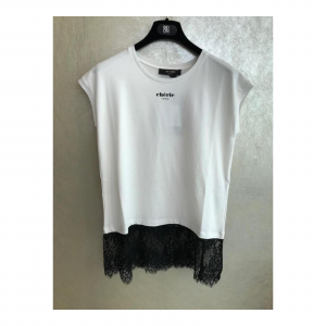 T-SHIRT IN JERSEY CON PIZZO
