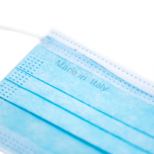 Confezione Marco Mascherine Chirurgiche Certificate Ce, Confezione da 10 pezzi, Monouso, Confortevoli E Traspiranti, Con Elastico E Nasello Regolabile
