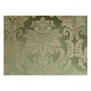 Poltrona Luis Oro e Tessuto Damasco Verde