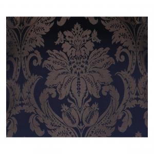 Poltrona Luis Oro e Tessuto Damasco Blu
