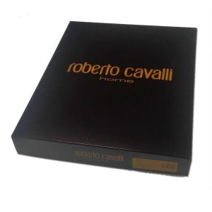 Roberto Cavalli Schwammbademantel mit Kapuze ZEB schwarz Unisex