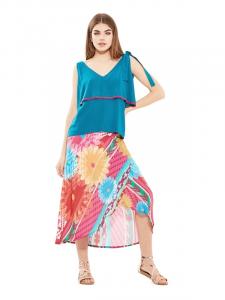 Longue jupe en coton | Vêtements d'été pour femmes en ligne