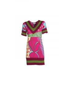 Short viscose dress with short sleeves. Women's dresses online