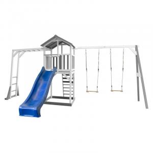 Beach Tower per Bambini con Struttura per arrampicarsi e doppia altalena