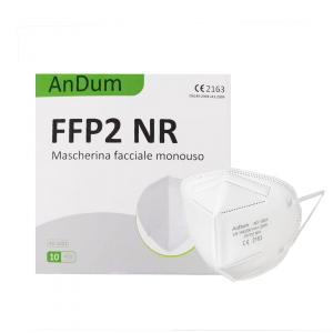 AnDum Mascherine Ffp2/Kn95 Certificate Ce Antipolvere Monouso Con 5 Strati Di Protezione Contro Virus E Batteri - Confezione 10 Pezzi