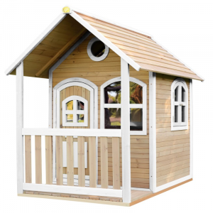 Casetta per Bambini con Portico in Legno Playhouse ALEX Brown/white